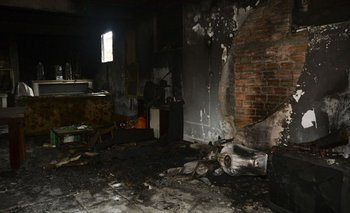 En esta casa fue encontrado el cuerpo de un hombre baleado.