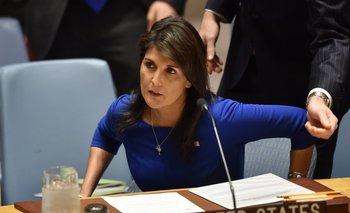 Nikki Haley, embajadora de EEUU ante la ONU.