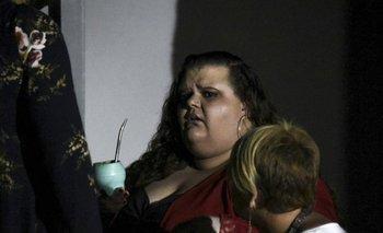 Michelle Suárez afuera del juzgado el día de su condena a prisión domiciliaria, el pasado 19 de abril