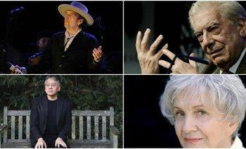 Algunos de los ganadores del Premio Nobel de Literatura