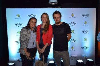 Carla Giuliano, Carolina Hirsiger y Nicolás Di Matteo