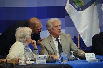 El presidente Tabaré Vázquez durante el Consejo de Ministros en La Macana