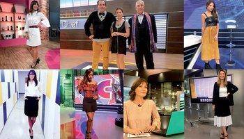 Looks televisivos: Sofía Rodríguez, Laurent Lainé, Lucía Soria y Sergio Puglia, Jimena Sabaris, Victoria Zangaro, Giannina Silva, Carolina García y Paola Botti. <br>