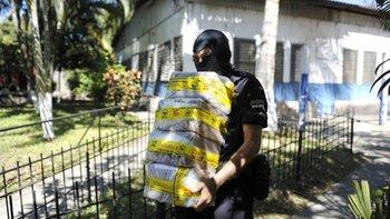 Drogas incautadas en El Salvador.