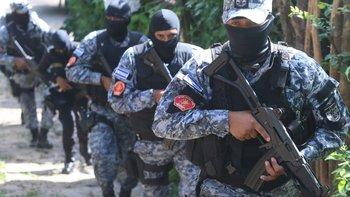Comandos especiales de la policía de El Salvador.