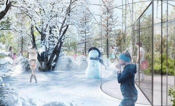 ¿Primavera, verano, otoño o invierno? En un parque de Italia pudieron experimentarse todas a la vez.