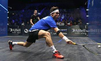 El colombiano Miguel Ángel Rodríguez es el primer sudamericano en ganar el Abierto Británico de squash, el más importante del calendario de este deporte.