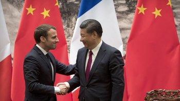 ¿En qué idioma se hablarán cuando están solos los presidentes de China y de Francia?
