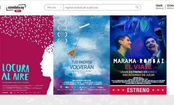 Así se ve la web de Cinedata.uy<br>