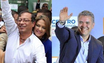 Petro (izquierda) y Duque son los dos candidatos favoritos para ganar las elecciones de este domingo.