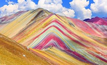La Montaña de los Siete Colores queda a 5.200 metros sobre el nivel del mar.
