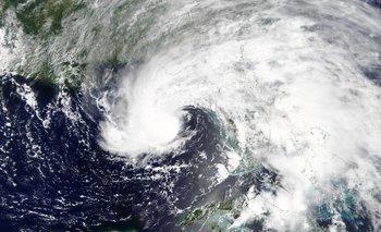 La tormenta Alberto vista desde el espacio.