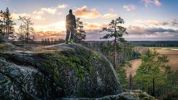 El granito es una constante en los paisajes naturales de Finlandia.
