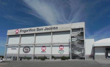 Frigorífico San Jacinto, de Nirea SA, ubicado sobre la ruta 7, en Canelones.<br>