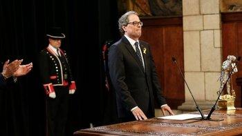 Quim Torra asumió el gobierno de Cataluña este sábado.