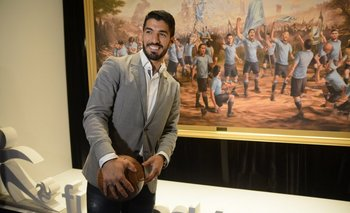 <div>Miércoles 30. La cena de la Fundación Celeste reunió a los jugadores de la selección, entre ellos Luis Suárez.</div>