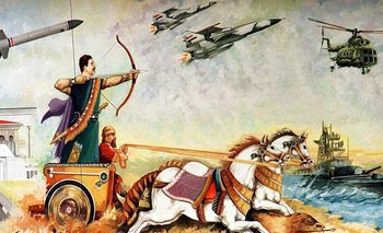 Decidido a emparentar su gobierno con la antigua Babilonia, Saddam Hussein encargó este mural.