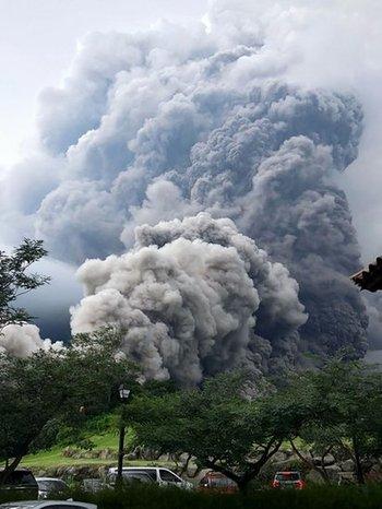 El volcán tiene 3.763 metros de altura.