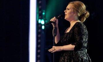 La cantante Adele en un concierto en 2010