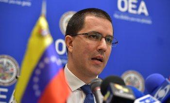 Canciller venezolano, Jorge Arreaza, en la sede de la Organización de los Estados Americanos. AFP / MANDEL NGAN