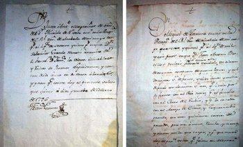 Dos documentos que detallan transacciones realizadas en Uruguay en el año 1796