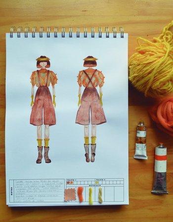 <b>Aurora Prints & Goods</b><br>Sketchpad para diseñadores con bocetos realizados por Florencia Rodríguez.