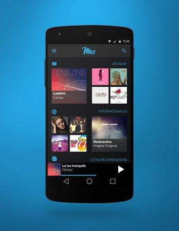 <b>GRMN</b><br>Creación y diseño de interfaces gráficas para la app de música Mus.