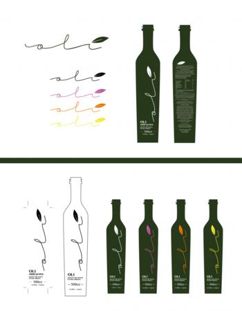 <b>Majo estudio creativo</b><br>Etiquetas para marca de aceite de oliva de Lavalleja. <br>