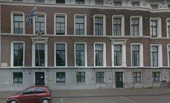 Fachada de la embajada de Uruguay en La Haya.