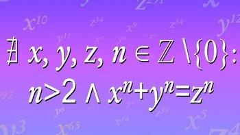 Notación matemática que resume el teorema propuesto en 1637 por el matemático francés Pierre de Fermat.