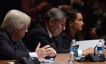 Astori y Nin Novoa durante la Cumbre del Mercosur
