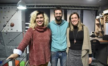Cecilia Aguirrezabala, Martín Gava y Analía Semblat