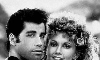 John Travolta y Olivia Newton-John protagonistas de<i> Grease</i>, el musical de 1978<br>