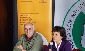 Directivo de la ANPL., Ruben Rava y consejera de UTEC, Graciela Do Mato