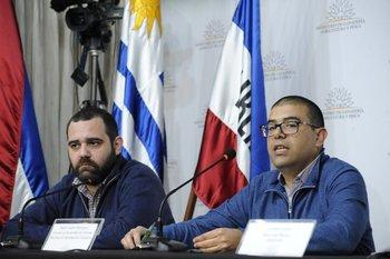 Facundo Souza y Mario Andrés Rodríguez, del Sistema Nacional de Información Ganadera (SNIG)