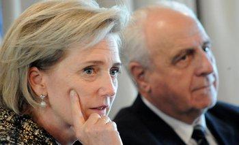 La Princesa Astrid se reunió este jueves con el ministro Rossi en el despacho de su ministerio.