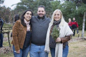 Ana Laura Ortega, Hugo Perdomo y Martha Irigoyen