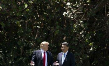 El presidente de Estados Unidos, Donald Trump, junto a su homólogo de China Xi Jinping<br>