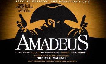 <i>Amadeus</i>, el filme de Milos Forman de 1984, contribuyó a popularizar la música de Mozart y algunos aspectos de su vida personal
