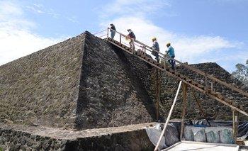 La pirámide de Teopanzolco fue escaneada por arqueólogos