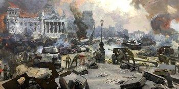 Pintura que recuerda la batalla de Berlín, en el Museo la Gran Guerra Patriótica