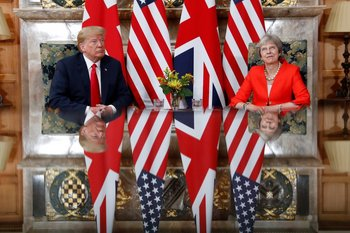 May recibió a Trump en su residencia de campo ubicada en la localidad de Buckinghamshire