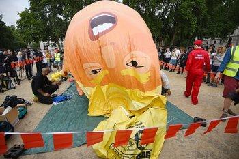 El uso del inflable, llamado nullbebé Trumpnull, estuvo autorizado por el gobierno de Londres para ser usado en la protesta.