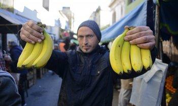 Esta semana, en el puesto El Decano en Gaboto y Mercedes, la banana estaba a $ 35 y $ 45 el kilo.<br>