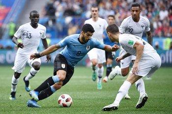Suárez contra Francia en Rusia 2018