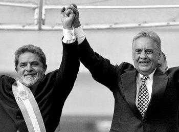 Fernando Henrique Cardoso transfiere la Presidencia de Brasil a Lula, el 1º de enero de 2003