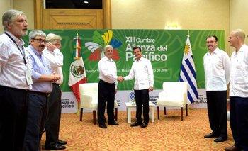 Vázquez junto al presidente mexicano Enrique Peña Nieto