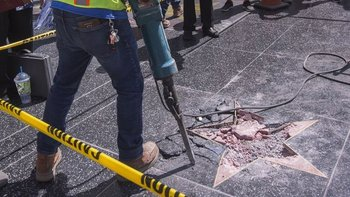 La Cámara de Comercio de Hollywood dijo que la estrella de Trump será reconstruida.