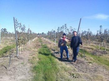 <b>Muzio Guidice junto a su hijo Vicente en quinta de Juanicó. </b>