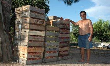 <b>Candido Garrone en su granja</b>